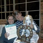 "Our ""Top Beagle"" Lucy, with her superb trophy sponsored by the Gauteng Beagle club - thanks guys!"