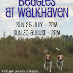 Walkhaven dates – July & August 2015