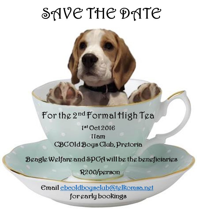 high tea save the date